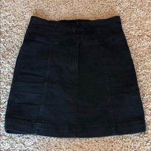 Free People High Rise Jean Skirt